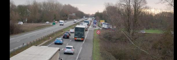 Accident sur l'Autoroute A25